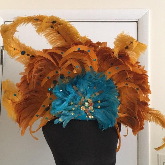 Vintage showgirl headdress
